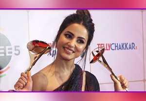 Hina Khan Bags This prestigious award at Indian Telly Awards; Watch video