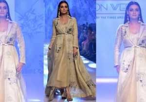 Dia Mirza walks the ramp for Bombay Times Fashion Week 2019