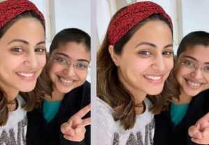 Hina Khan meets her Big fan at Hospital in Mumbai