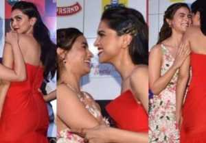 Alia Bhatt Hugs Deepika Padukone At the red carpet of Zee Cine Awards; Watch video