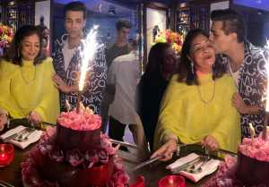 Karan Johar Celebrates Mom Hiroo Johar's Birthday; Watch Video