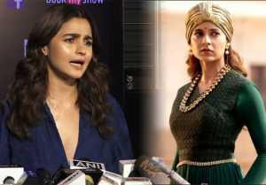 Alia Bhatt's Befitting reply to Kangana Ranaut's comments on her: Watch Video