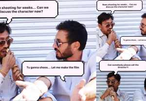 Irrfan Khan shares a meme from behind the scenes of Angrezi Medium