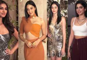 Ananya Panday, Tara Sutaria, Kiara Advani & others attend Manish Malhotra party; Watch video