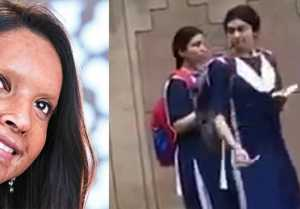 Deepika Padukone spotted in school uniform during Chhapaak shooting; Check Out