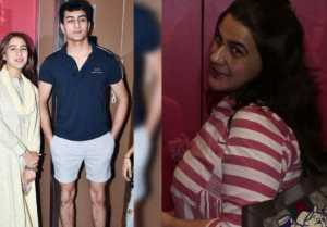 Sara Ali Khan watches Kalank with Ibrahim Ali Khan & Amrita Singh; Watch Video