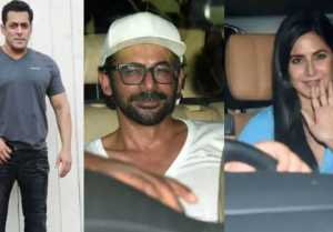 Salman Khan Bharat Screening: Katrina Kaif, Sunil Grover & others attend; Watch video