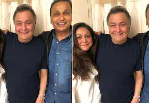 Rishi Kapoor gets a visit from Anil Ambani & Tina Ambani in NYC