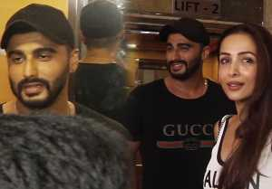 Arjun Kapoor bluses while watching Malaika Arora at India's Most Wanted screening