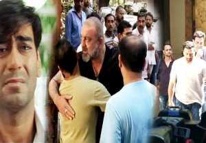 Ajay Devgn's father Veeru Devgn's funeral: Shahrukh Khan, Sunny Deol & Sanjay Dutt reach