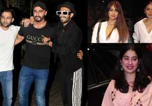 Malaika Arora, Jhanvi Kapoor, Anushka Sharma & others attend India's most wanted screening