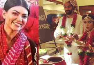 Sushmita Sen's brother Rajeev & Charu Asopa eating Gol Gappe during wedding; Watch video