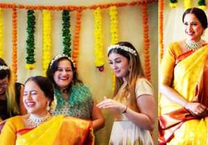 Sameera Reddy shines at her baby shower; Check Out