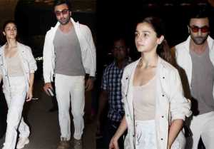 Alia Bhatt & Ranbir Kapoor leave for New York to visit Rishi Kapoor; Watch Video