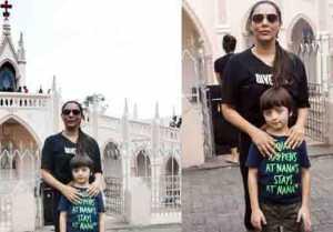 Shahrukh Khan's wife Gauri Khan visits church with son Abram Khan