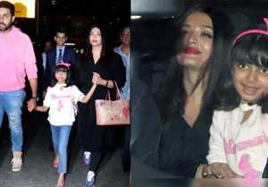 Aishwarya Rai Bachchan, Aaradhya Bachchan & Abhishek return from New York; Watch video