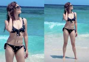 Drashti Dhami flaunts her bikini look during holiday in Spain; Check out