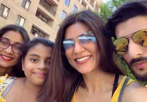 Sushmita Sen shares new videos of her Armenian vacation with Rohman Shawl & daughters