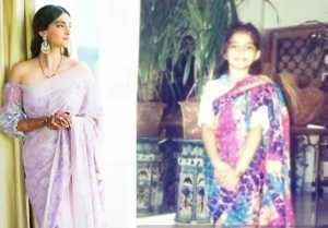 Sonam Kapoor shares pictures of herself wearing sarees as a child & also as adult