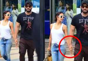 Malaika Arora and Arjun Kapoor hold each others hand during lunch date