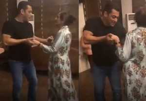 Salman Khan dances with mother Salma Khan; Watch Video