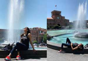 Sushmita Sen spending quality time with BF Rohman Shawl & Daughters in Armenia