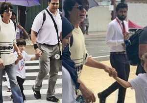 Shahrukh Khan reaches Maldives with Suhana Khan, Aryan Khan & Abram; Here's why