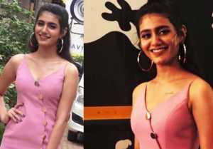 Priya Prakash Varrier looks glamorous in spaghetti dress at Sridevi Bungalow event