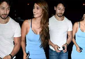 Tiger Shroff & Disha Patani look happy during dinner date