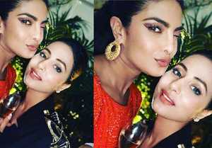 Hina Khan shares cute selfie with Priyanka Chopra; Here's Why