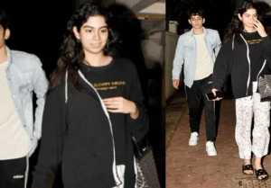 Khushi Kapoor spotted with mystery boy ouside Arjun Kapoor's house; Watch video