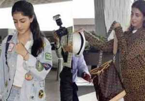 Shweta Bachchan & Navya Naveli Nanda leave for holiday