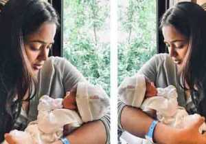 Sameera Reddy shares her daughter's first photo on Instagram; Check out
