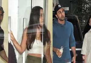 Alia Bhatt-Ranbir Kapoor & Varun Dhawan-Natasha Dalal stepped out for movie