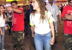 Sara Ali Khan's viral airport video helps her fan,Watch video