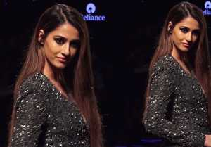 Disha Patani looks perfect in a thigh-high slit dress at Lakme Fashion Week 2019