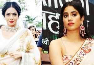 Jhanvi Kapoor looks like Mom Sridevi in this white Saree; Check Out Here