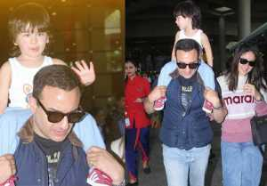 Taimur Ali Khan back to Mumbai with Kareena Kapoor Khan-Saif Ali Khan; Check Out