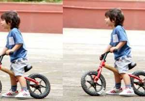 Taimur Ali Khan enjoys bicycle ride in latest pic