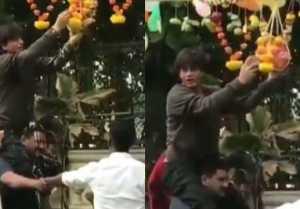 Janmashtami 2019: Shahrukh Khan breaks dahi handi & celebrates the festival; WATCH