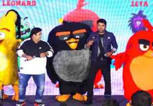 Kapil Sharma,Kiku Sharda & Archana Puran Singh attended Angry Birds 2 promotion