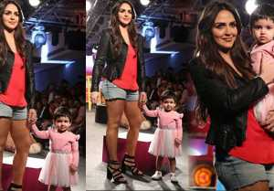 Esha Deol walks the ramp with daughter Radhya at Lakme Fashion Week 2019