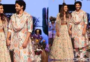 Farhan Akhtar & Shibani Dandekar walk the ramp at Lakme Fashion Week 2019; Watch video