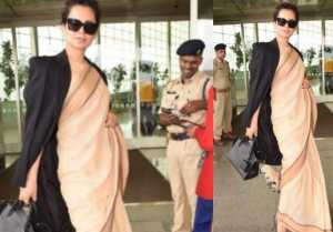 Kangana Ranaut GETS trolled for wearing Rs 600 saree with expensive bag
