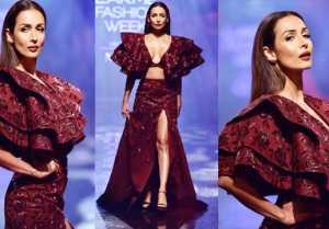 Lakme Fashion Week: Malaika Arora walks the ramp in dazzling outfit; Watch Video