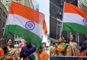 Hina Khan hoist National Flag in New York on Independence Day
