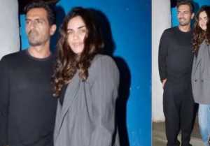 Arjun Rampal enjoys night out with girlfriend Gabriella Demetriades