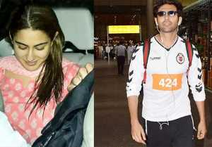Sara Ali Khan blushes as she receives Kartik Aaryan at the airport