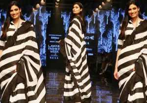 Athiya Shetty stun in saree at Lakme Fashion Week 2019; Watch video