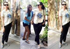 Karisma Kapoor enjoys day out with daughter Samaira; Check out